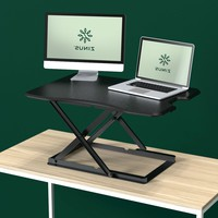 Black Standing Computer Desk Adjustable Desktop