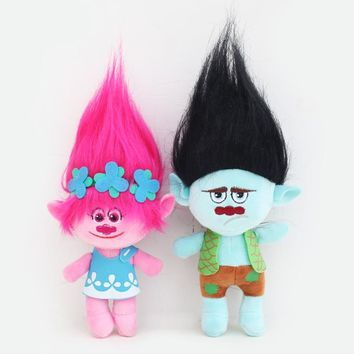 2018 New Arrival 23cm 30cm Trolls Plush Toy Movie Trolls Poppy Branch Plush Action Figure Toys Stuffed Cartoon Dolls
