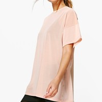 Lola Fit Oversized Mesh Workout Tee