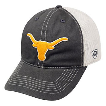"Texas Longhorns NCAA Top of the World ""Putty"" Stretch Fit Mesh Back Hat"