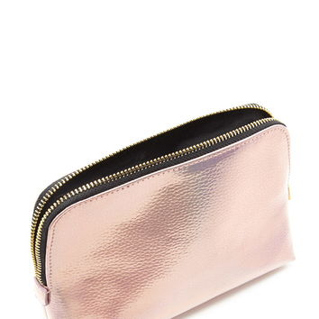 Metallic Makeup Bag | Forever 21 - 1000220978