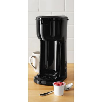 Mainstays Single Serve Coffee Maker Black 0 Does Not Contain a Battery