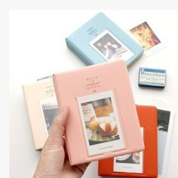 1Pcs Mini Film Instax Polaroid Album Photo Storage Case Fashion Home Family Friends Saving Memory Souvenir 64 Pockets