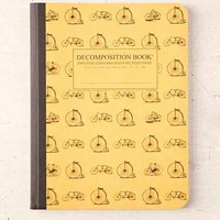 Decomposition Book Bicycles Notebook- Dark Yellow One