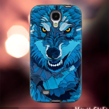 MC42Y,20,Wolf,Painting,Wild,Beast,Pattern -Accessories case cellphone- Design for Samsung Galaxy S5 - Black case - Material Soft Rubber