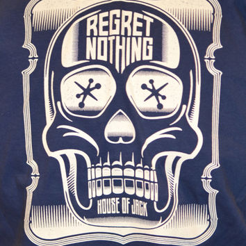 REGRET NOTHING Skull T-SHIRT