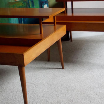 Paul McCobb Pair Planner Group End Tables Wichendon Mid Century Modern Furniture