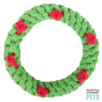 Martha Stewart Pets® Holiday Wreath Dog Toy | Toys | PetSmart