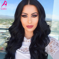 Full Lace Human Hair Wigs Front Lace Wigs Body Wave 250% Density Glueless Lace Front Human Hair Wigs For Black Women Wavy Wig