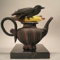 Crow Corn Tea by Nancy Y Adams: Ceramic Teapot - Artful Home