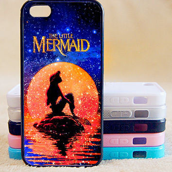 Mermaids iPhone 5 case 5s Plastic Silicon Eco-Friendly Phone cover