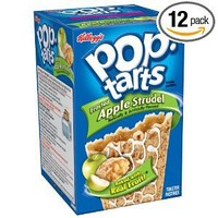 Pop-Tarts, (Semi-Frosted) Apple Strudel, 8-Count Tarts (Pack of 12)