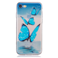 Blue butterfly Phone Case Cover for Apple iPhone 7 7 Plus 5S 5 SE 6 6S 6 Plus 6S Plus + Nice gift box! LJ161005-005