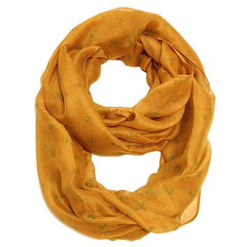 Tiny Anchor Infinity Scarf  Gold