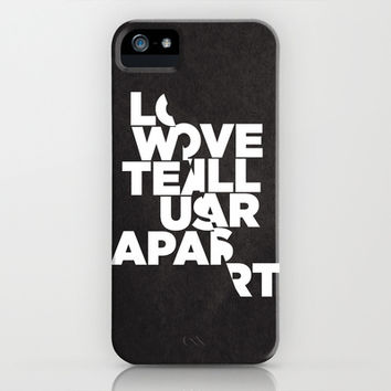 LOVE WILL TEAR US APART iPhone & iPod Case by Three Of The Possessed