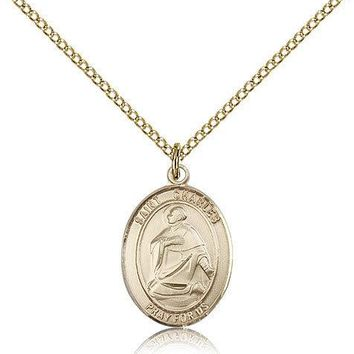 """Saint Charles Borromeo Medal For Women - Gold Filled Necklace On 18"""" Chain - ... 617759778670"""