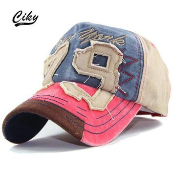 DCCKWJ7 Fashion Cotton Casual Adult Baseball Cap Boy Gorras Letter Embroidery Patchwork Snapback Cap Sport Outdoor Sun Hat  TH-053