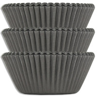 Solid Black Baking Cups