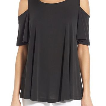 Bobeau Cold Shoulder Flutter Sleeve Top | Nordstrom