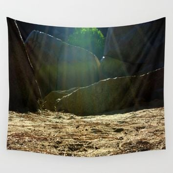 Let's Camp  Wall Tapestry by Leah McPhail