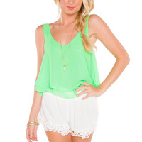 Swish Lace Shorts - White