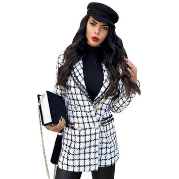 Adyce 2018 New Winter Women Slim Trench Coat Sexy White Deep V Neck Long Sleeve Plaid Beading Celebrity Party Club Coats Trench