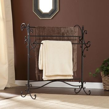 Harper Blvd Black Metal Quilt Rack | Overstock.com Shopping - The Best Deals on Accent Pieces