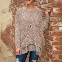 Relaxed Revelry Sweater, Brown