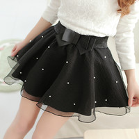 Black Bow Knot Umbrella Skirt