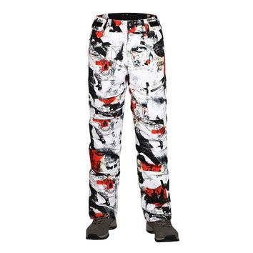 Hot Free Shipping Man Snowboard Skiing Pants Windproof Waterproof Outdoor Sport Wear Camping Riding Skiing Super Warm Trouser