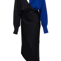 Front Cut Out Satin Dress | Moda Operandi