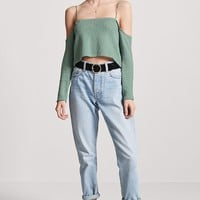 Open-Shoulder Crop Top