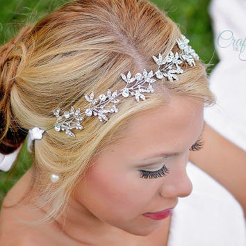 Vine Tiara - Bridal Vine Headpiece - Rhinestone Headband - Wedding Headband - Bride Headband - Wedding Headpiece - Rhinestone Headpiece Vine