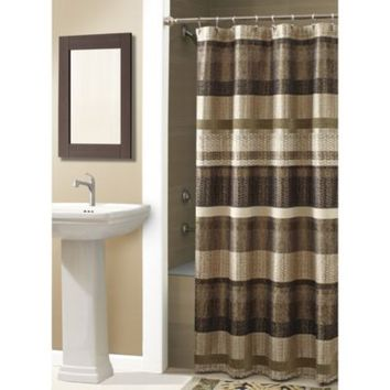 Croscill® Portland 54 Inch X 78 Inch Shower Curtain In Bronze