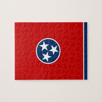 Puzzle with Flag of Tennessee State