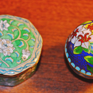 Pill Boxes, Cloisonne, Porcelain, Asian Pill Boxes