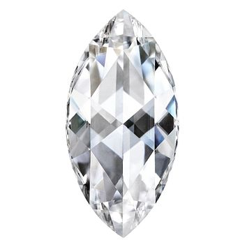 Rose Cut Marquise Forever One Charles & Colvard Loose Moissanite Stone