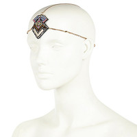 River Island Womens Gold tone ethnic beaded crown