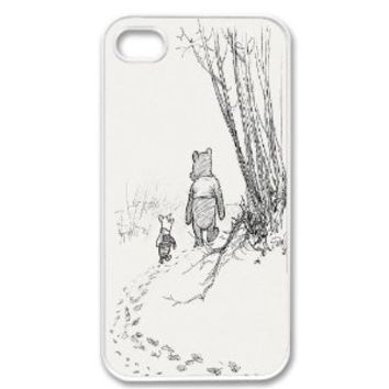TOOGOO Cute Winnie the Pooh Piglet Friends Forever Retro Vintage WHITE Sides Case For Apple iPhone 4 4G 4S