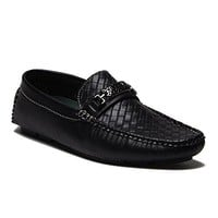 New Men's XH-130 Slip On Textured Moccasin Driving Shoes