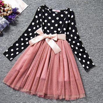 Winter Autumn Girl Dress Children Clothing Princess Baby Girl Party Dress For Girl Frocks Size 8 Yrs