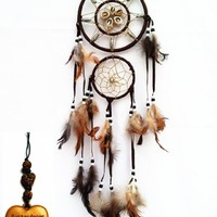 Dream Catcher Wall Hanging Ornament ( with a Betterdecor Logo Gift Bag) -Dbs