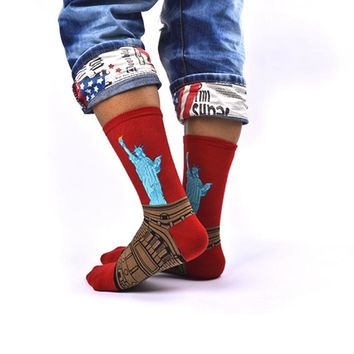 1 Pair Fashion Vintage Retro Unisex Famous Painting Art Socks Novelty Funny Leg Warmers For Men Women Lady