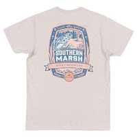 Genuine Collection - Fly Fishing Tee in Washed Oatmeal by Southern Marsh - FINAL SALE
