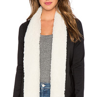 Barron Jacket with Faux Fur Trim in Black