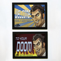 Borderlands 2 Handsome Jack Welcome Posters - Set of 2