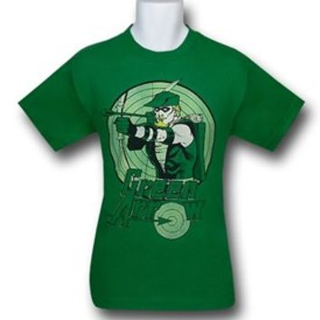 Green Arrow Bullseye Kelly Green T-Shirt