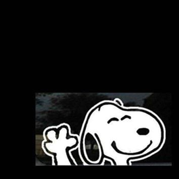 Snoopy Waving Window Decal Vinyl Sticker
