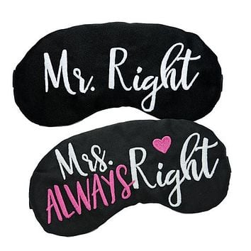 MR. RIGHT & MRS. ALWAYS RIGHT SLEEP MASK SET