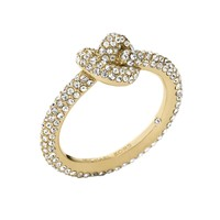Michael Kors Pave Gold-Tone Knot Ring - Size 8